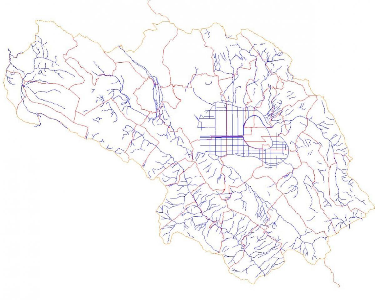 Mappa dei fiumi nella Marsica